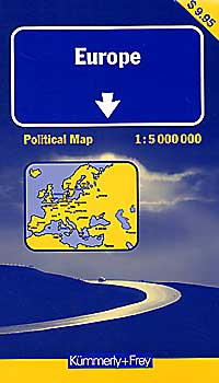 "Europe ""POLITICAL"" Tourist Map."