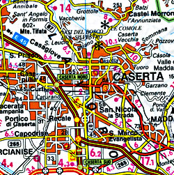 Italy Road and Shaded Relief Tourist Road Atlas.