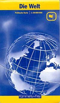World Physical WALL Map.