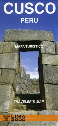 """Cusco, """"Tourist Map"""", Peru."""