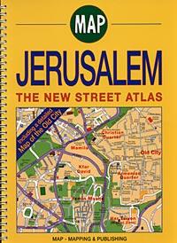 JERUSALEM Street ATLAS, Israel.