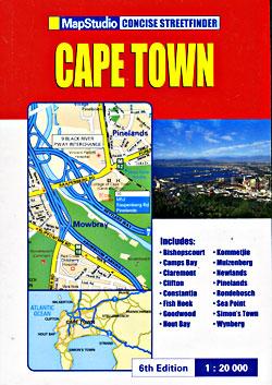 Cape Town A-Z Street ATLAS, South Africa.