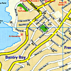 """Cape Town """"Minimap"""", South Africa."""