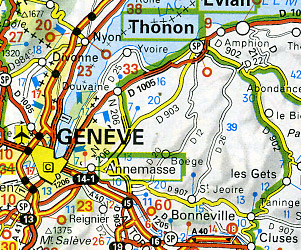 """Europe """"Motoring"""" Road and Shaded Relief Tourist ATLAS."""