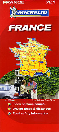 Michelin France Road Map, Travel, Tourist, Detailed, Street.