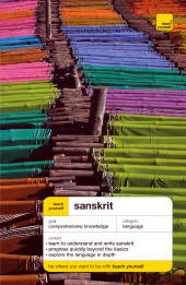 """Teach Yourself Sanskrit Language. McGraw-Hill Books. 544 pages. Size 5""""x7?"""". An excellent course book."""