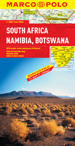South Africa, Namibia and Botswana Road and Tourist Map. Marco Polo edition.