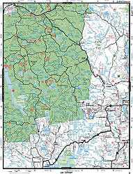 Montreal and the Laurentians Region , Road and Recreation ATLAS, Canada.