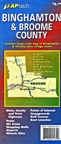 Binghamton and Broome County, New York, America.
