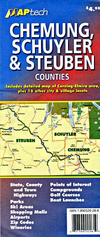 Chemung, Schuyler and Steuben Counties, New York, America.