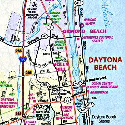 Florida Road and Tourist Map, America.