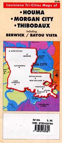 Houma, Morgan City and Thibodaux, Louisiana, America.