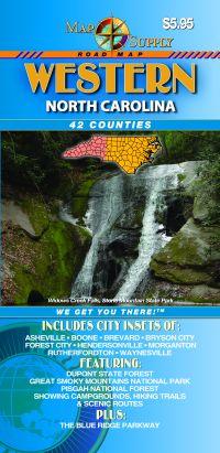 "North Carolina ""Western"" Road and Tourist Map, America."