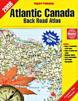 Atlantic Canada Tourist Road ATLAS.