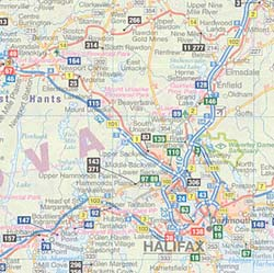 Atlantic Provinces Recreation Road Map, Canada.