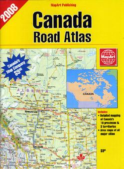 Canada Tourist Road ATLAS.