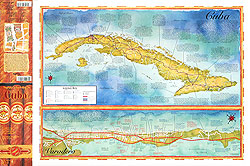 Cuba Road and Illustrated Pictorial Map.