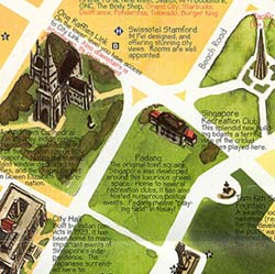 """Singapore City """"Guide Map"""", Singapore."""