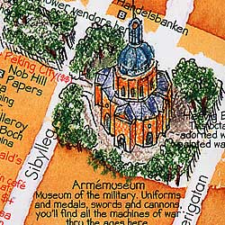 Sweden Road and Illustrated Pictorial Guide Map.
