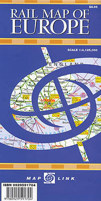 Europe RAILWAY Map.
