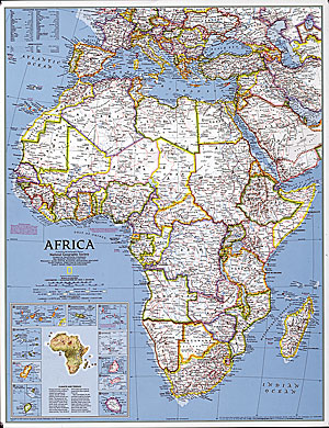 Africa WALL Map.