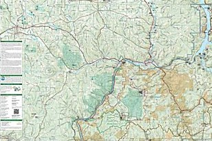 Allegheny National Forest North Road and Recreation Map, America.