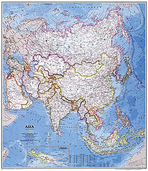 Asia WALL Map.