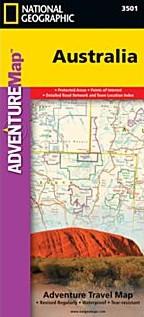 Australia Adventure Road and Tourist Map.
