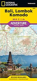 Bali, Lombok, and Komodo Adventure Road Map, Indonesia.