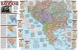 The Balkans Peninsula WALL Map.