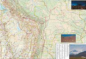 Bolivia Adventure Road and Tourist Map.