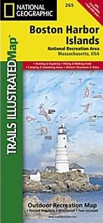 Boston Harbor Islands National Recreation Map, Massachusetts, America.