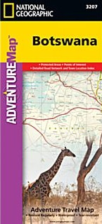 Botswana Adventure Road and Tourist Map.