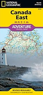 Canada, East, Adventure Road and Tourist Map,Canada.