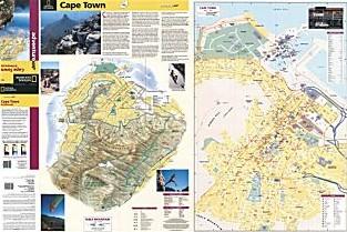 Cape Town & Peninsula Adventure Map, South Africa.