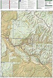 Carbondale and Basalt Trails Road and Tourist Map, Colorado, America
