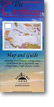 Caribbean, the Bahamas, and Central America, Road and Shaded Relief Tourist Map.