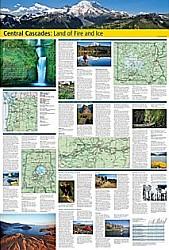 Central Cascades Destination Road and Tourist Map.
