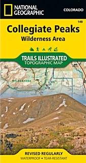 Collegiate Peaks Wilderness Trail Road Map.