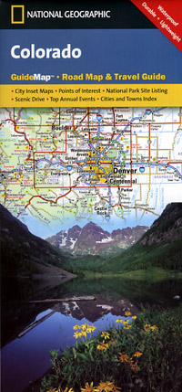 Colorado Road and Physical Tourist Guide map.