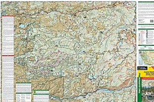 Crystal Basin, Silver Fork and Eldorado Road and Recreation Map, California, America.
