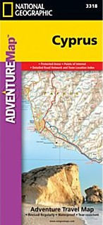 Cyprus Adventure Road and Tourist Map.