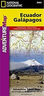 Ecuador and Galapagos Adventure Road and Tourist Map.