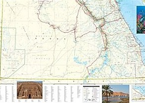 Egypt Adventure Road and Tourist Map.