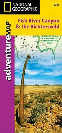 Fish River Canyon & the Richtersveld Adventure Map, Namibia.