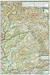 Goat Rocks & Norse Peak, Gifford-Pinchot & Okanogan-Wenatchee National Forests, Road and Recreation Map.