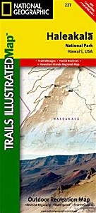 Haleakala National Park Road and Recreation Map.