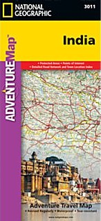 India Adventure Road and Tourist Map.