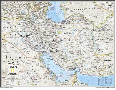 "Iran ""Classic"" WALL Map."