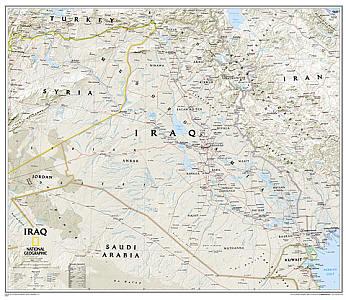 """Iraq """"Classic"""" WALL Map."""